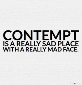 contempt is a mad face