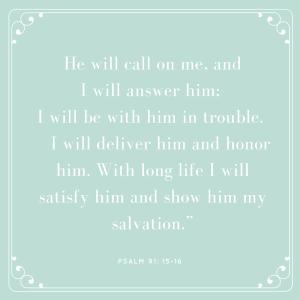 psalm 91 - 15 16